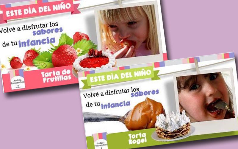 """Creación y diseño de sorteo Día del Niño """"Los sabores de la infancia"""""""